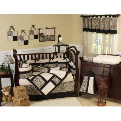 9-Piece Baby Crib Bedding Set – Animal Safari Jungle Modern